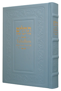 Tehillim with English Light Blue Leather 5½ x 8½