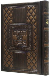 Antique Leather Hagaddah Shel Pesach - Heichal Menachem