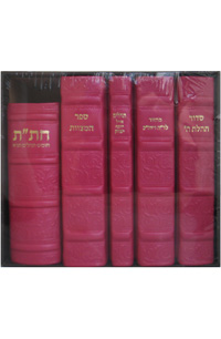 Kallah Set Leather Hot-Pink Medium Size