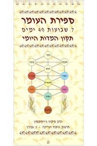 Counting of the Omer - Spiritual Guide (Hebrew)