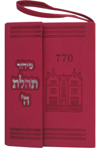 Siddur Pocket w Tehillim Magnet Leather-like Hot Pink