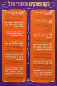 12 Psukim Poster Hebrew Text 15 x 21.5